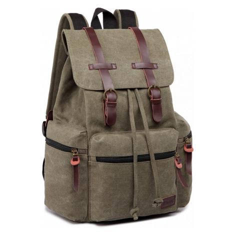 Zelený praktický kvalitní batoh Gotlen Lulu Bags