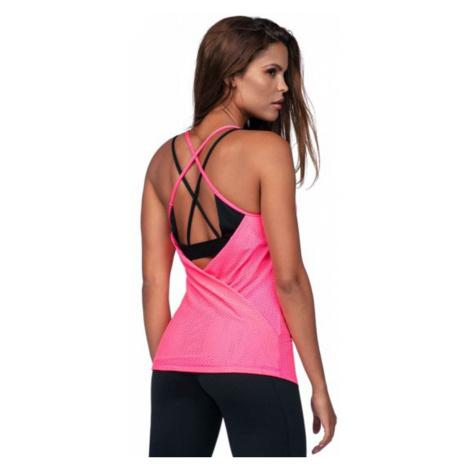 Neónově-růžový sportovní top Rachel Lorin
