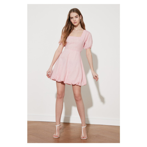 Trendyol Square Collar Dress with Powder Balloon Skirt