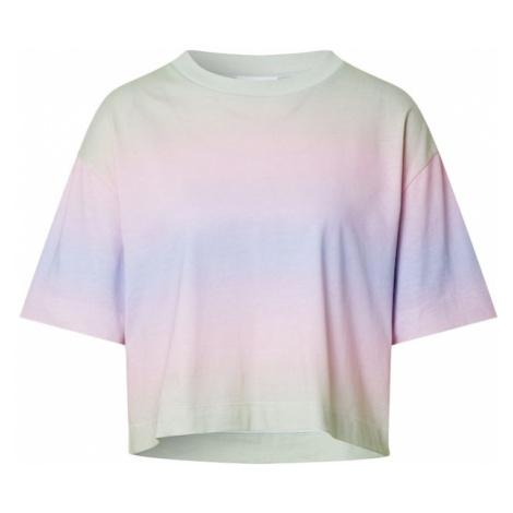EDITED Tričko 'Sila' světle fialová / růžová / zelený melír