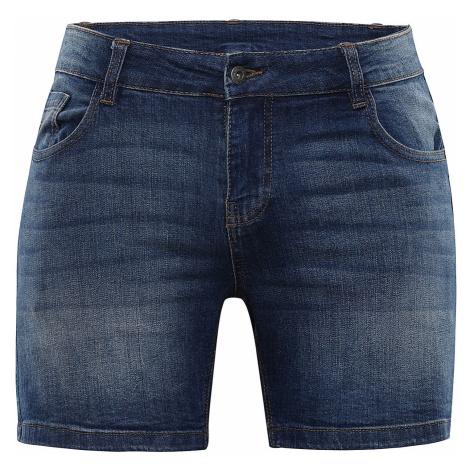 ALPINE PRO GERYGA 2 Dámské jeans šortky LPAR392669 indigo blue