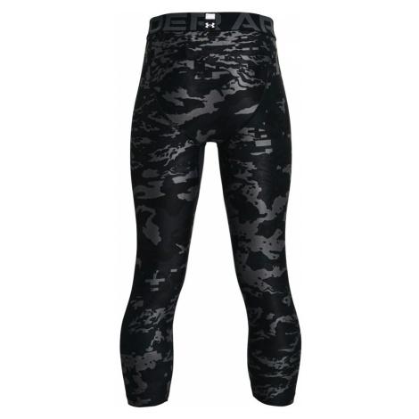 Chlapecké Legíny Under Armour HG Armour PRTD 3/4 LGS černé,
