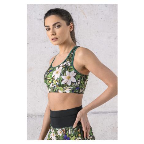 Nessi Sportswear Sportovní podprsenka TS4-13W1 Wild Flowers