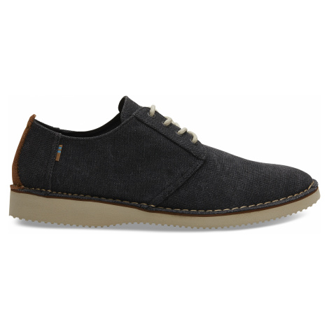 Black Washed Canvas Stitch Out Men Preston Toms