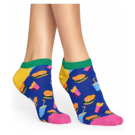Modré kotníkové ponožky Hamburger – 41 - 46 Happy Socks