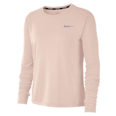 Nike MILER TOP LS W růžová - Dámské běžecké triko s dlouhým rukávem