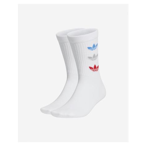 Tricolor Thin Ribbed Crew Ponožky 2 páry adidas Originals
