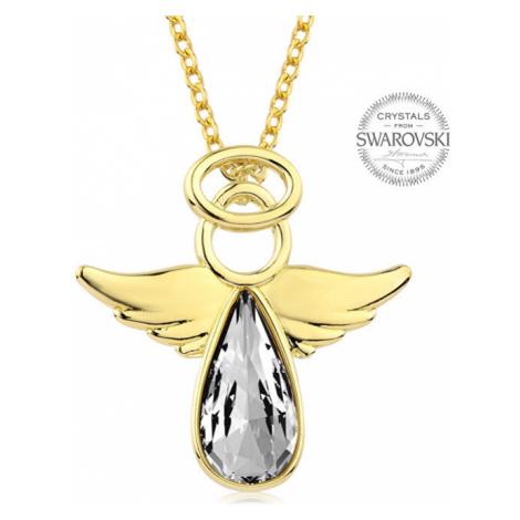 Levien Pozlacený náhrdelník s krystalem Angel Rafael