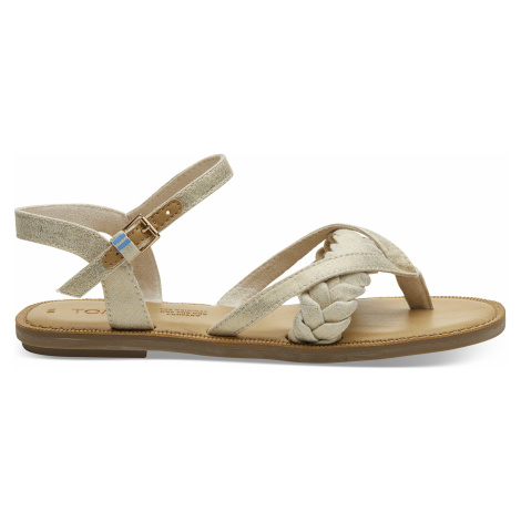 Nat Shimmer Canvas Women Lexie Sand Toms