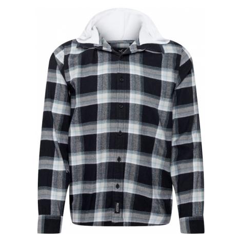 HOLLISTER Košile černá / bílá / světlemodrá