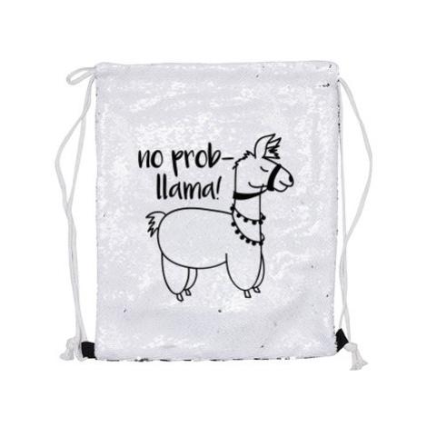 Vak flitrový měnící No prob llama