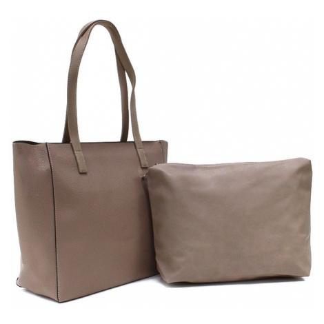 Hnědorůžový dámský kabelkový set 2v1 Meryl Tapple