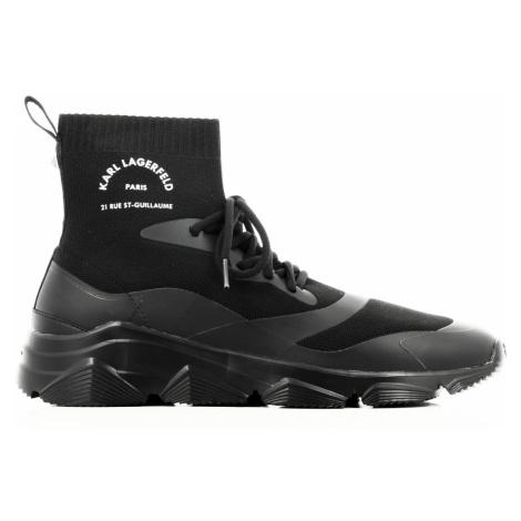 Tenisky Karl Lagerfeld Verge Maison Karl Knit Boot - Černá
