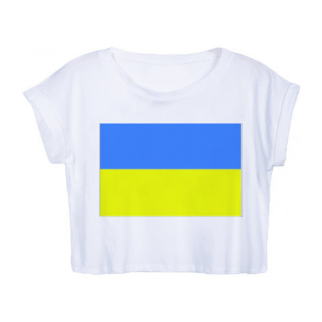 Dámské tričko Organic Crop Top Ukrajina