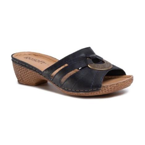 Pantofle GO SOFT WI16-2154-06 Přírodní kůže (useň) - Lícová