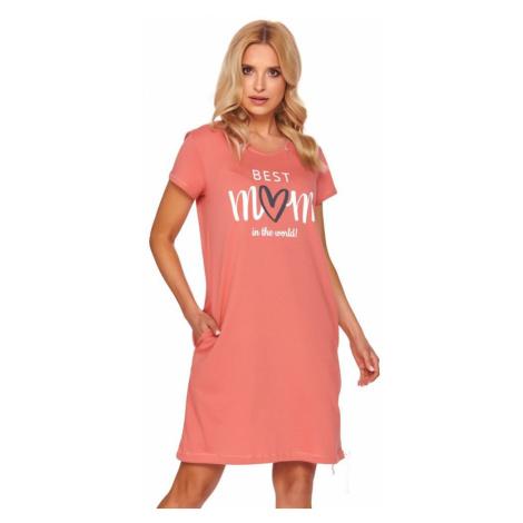 DN Nightwear Mateřská noční košile organic Best mom oranžová