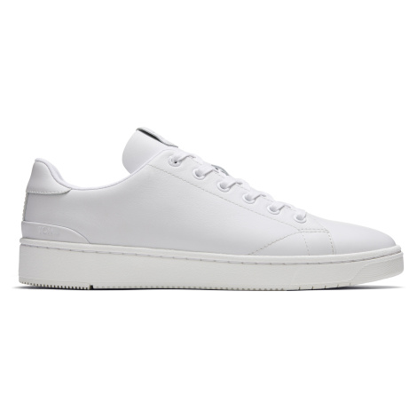 WHT LEATHER MN TRVL LITE 2.0 LOW SNEAK Toms