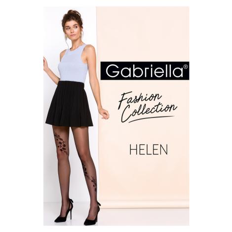 Dámské punčochové kalhoty Gabriella Helen code 264 lískooříšková/černá 3-m
