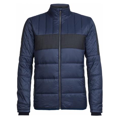 Pánská bunda ICEBREAKER Mens Stratus X Jacket, Midnight Navy/Jet HTHR Icebreaker Merino