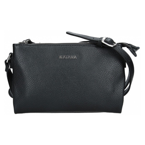 Kožená dámská crosbody kabelka Katana Elisn - černá