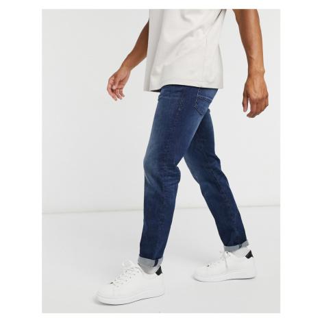Tom Tailor slim Josh jeans in mid stone wash-Blue