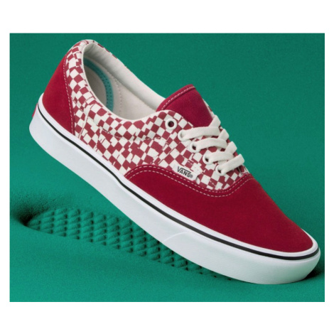 Boty Vans Comfycush Era tear check, racing red, true white
