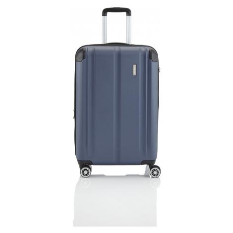 Travelite Cestovní skořepinový kufr City 4w M Navy 78/86 l