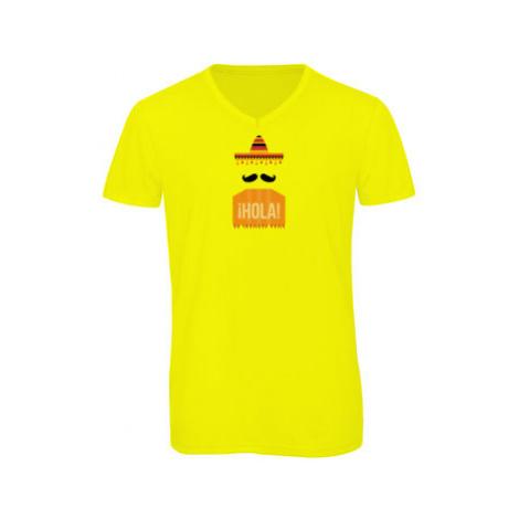 Pánské triko s výstřihem do V Mexikánec