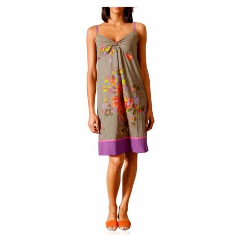 LINEA TESINI LINEA TESINI letní barevné šaty na ramínka