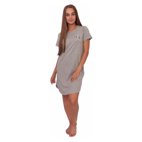 Dámská noční košile CK ONE šedá (QS6358E-020) Calvin Klein