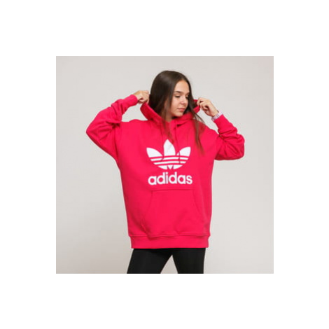 adidas Originals Trefoil Hoodie tmavě růžová