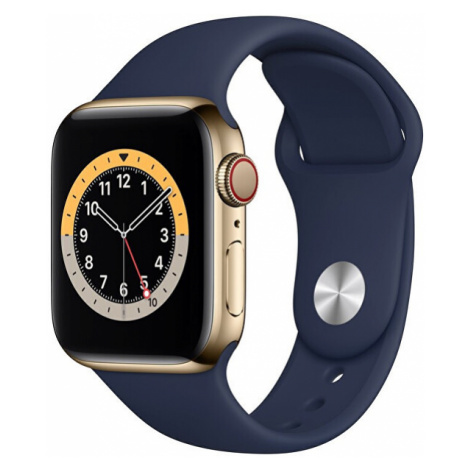 Apple Apple Watch Series GPS + Cellular, 44mm Gold Stainless Steel Case with Deep Navy Sport Ban