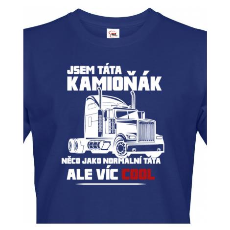 Pánské tričko pro řidiče kamionu / kamioňáky - Táta kamioňák BezvaTriko