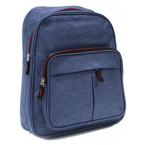 Modrý zipový pánský batoh Clarke Tapple