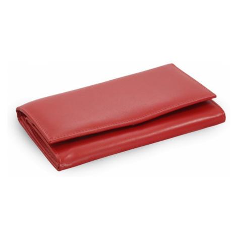 Červená dámská kožená psaníčková peněženka Elizbeth Arwel