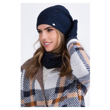 Kamea Woman's Hat K.20.041.12 Navy Blue