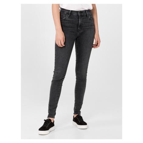 720™ High-Waisted Super Skinny Jeans Levi's® Černá Levi´s