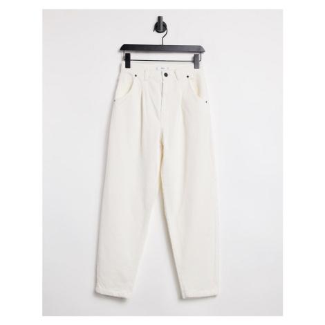 Mango corduroy slouchy trouser in ecru-White