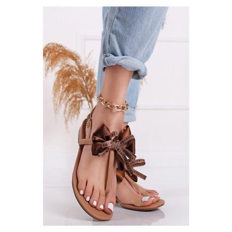 Hnědé nízké sandály Amelia Laura Biagiotti