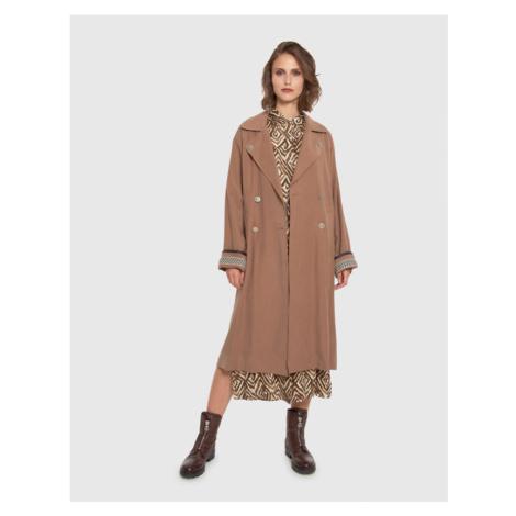 Kabát La Martina Woman Outdoor Heavy Tencel Twi - Hnědá