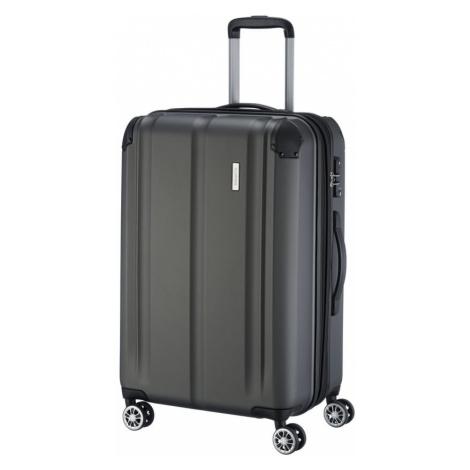 Travelite Cestovní kufr City 4w M Anthracite 78/86 l