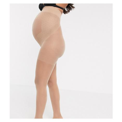 Lindex Maternity 20 Denier semi shine tights in light beige