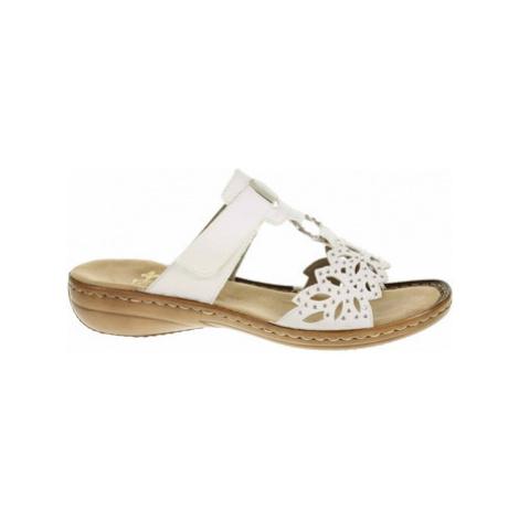 Rieker Dámské pantofle 608A6-80 weiss Bílá