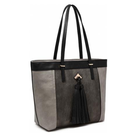 Šedá moderní zipová dámská kabelka Camillei Lulu Bags