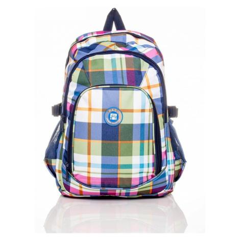 Dětský školní batoh s kostkovaným vzorem batoh BASIC