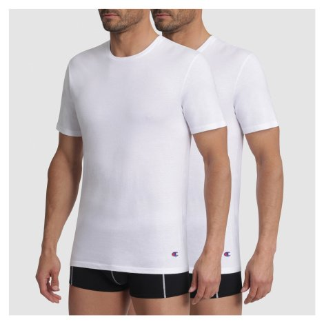 Pánské tričko Champion 09G5 2PACK bílá | bílá