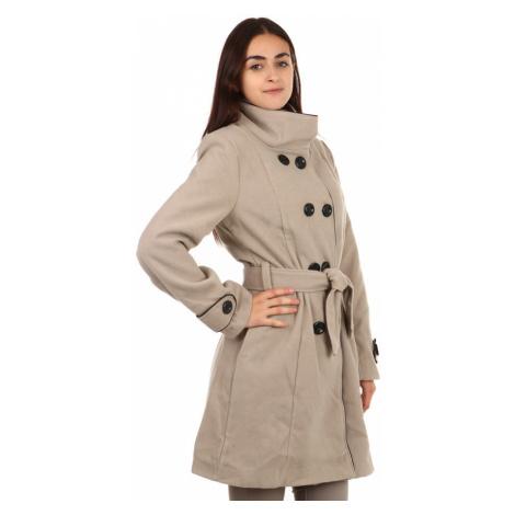 Dámský zimní kabát s knoflíky i