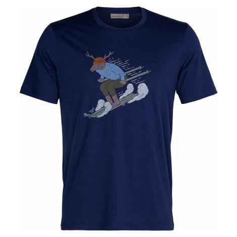 Pánské tričko Icebreaker Tech Lite II SS Tee Ski Rider Royal Navy, Icebreaker Merino