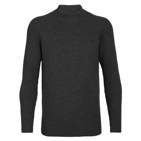 Pánské svetr ICEBREAKER Mens Hillock Funnel Neck Sweater, CHAR HTHR Icebreaker Merino