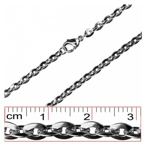 Retiazka z ocele - sploštené oválne očká, 4,5 mm Šperky eshop
